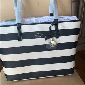 Kate Spade black and cream tote bag